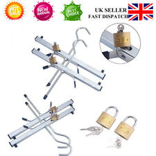 Car Roof Rack Clamps (Pair) Bars Rails Locking Hooks Ladders Carrier Fitted