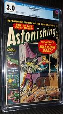 Astonishing #10 CGC 3.0 classic Walking Dead cover Atlas pre code horror