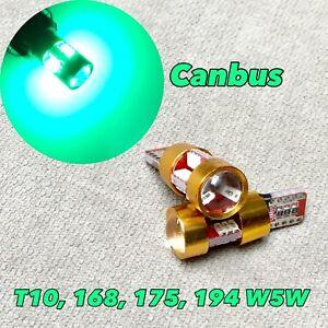 Canbus T10 27 LED Green Bulb 3rd Brake Light 168 194 2825 W1 For Chevrolet