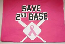 Chicago Cubs Charities Pink Shirt Save Second Base Breast Cancer Advocate XL