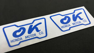 Pair of OK HONDA DECALS, Inside/Outside Glass, Window STICKERS, Civic, CRX