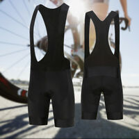 Mens Cycling Bib Shorts Pants Bicycle Clothing Shorts Clothes Bibs Riding Black