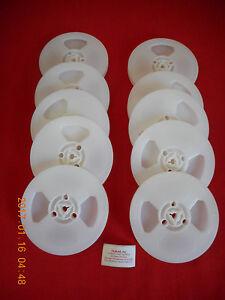 (10) *NEW* REGULAR 8 / 8mm 200' PLASTIC REELS   (WHITE)    NEW