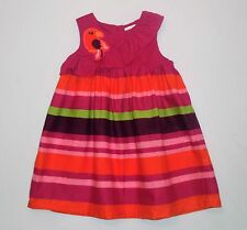 "Gymboree ""Wild for Zebra"" Parrot Ruffled Striped Sun Dress, 2T"