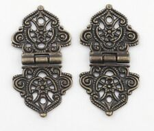 2x Small  5.3x2.8cm Antique Bronze Hinges Jewelry Boxes Small Hinge Craft DIY C