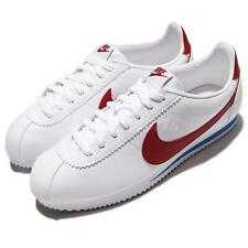 Nike Classic Cortez Leather Men's Shoes White/Varsity Red
