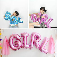 1PC Blue&Pink Girl Boy Inflatable Helium Foil Balloons Connection Birthday Party