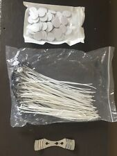 100 Pre Waxed Candle Wicks for Candle Making With Sustainers - 15cm DIY Candle
