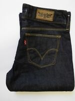 LEVI'S 570 JEANS WOMEN'S STRAIGHT FIT W30 L33 DARK BLUE STRAUSS LEVP121