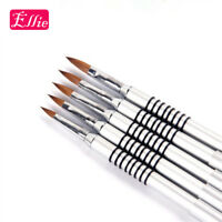 Acrylic Nail Art Brush Kolinsky 8# Sable Gel UV Nail Painting Pen Metal Handle