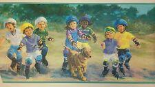 Children Skating-YORK Wallpaper Border, 5 yd pkg, PA# KP7328B
