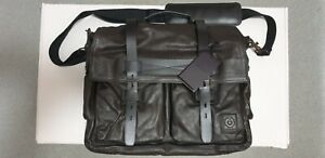Belstaff Leather Colonial Black Messenger Bag *NEW With tags*