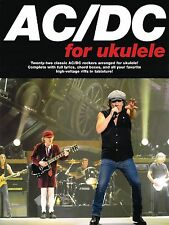 AC/DC FOR UKULELE UKE 20+ HIT SONGS LYRICS & CHORDS SHEET MUSIC SONG BOOK