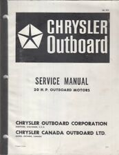 CHRYSLER 20 HP OUTBOARD ENGINE (1968-71) ORIGINAL FACTORY SERVICE MANUAL
