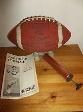 1970's Vintage Hutch 62 Gripper Roger Staubach Football w/ Tee Pump & Manual
