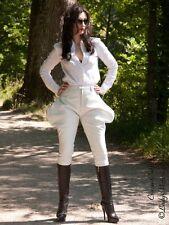 Lederhose Leder Hose Weiß Zipper Breeches Größe 32 - 58 XS - XXXL