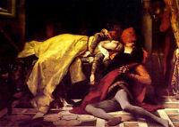 Excellent art Oil painting The Death of Francesca da Rimini & Paolo Malatesta