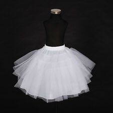 New Flower Girl Bridesmaid 4 layer White Underskirt Petticoat One Size