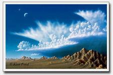 Space Art Lithograph - Kim Poor - Bajada Chubasco Storm