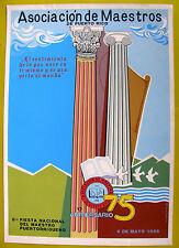 Vera Cortes Poster Serigraph 75 Aniv Asociacion De Maestros De Puerto Rico 1986