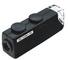New Mini Illuminated Pocket Microscope Magnifier 60x -100x #MI10082 US FAST SHIP