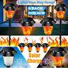 2/4x Solarleuchte LED Garten Beleuchtung Solar Licht Lampe Fackel Leuchte Flamme