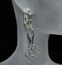 Wunderschöne Ohrringe Brisur mit Silber, NEU