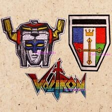 Lot of 3 Voltron Patches Robot Head Chest Shield Logo Lions Defender of Universe