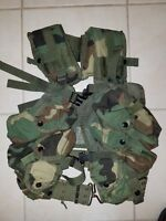 ENHANCED Tactical Load Bearing Vest *** Woodland Camo *** w/belt