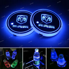 2x Colorful RAM LED Car Cup Holder Pad Mat for Interior Atmosphere Lights