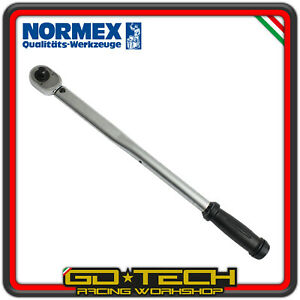 """CHIAVE DINAMOMETRICA NORMEX 1/2"""" 20-200 Nm CRICCHETTO REGOLABILE PROFESSIONALE"""