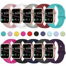 for Apple Watch Series 6 SE 5 3 4 38/40/42/44mm Soft SILICONE Sport Strap Band