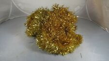 Vintage Metal Tinsel Christmas Tree Garland Approx. 20' Goldish Tone Fluffy