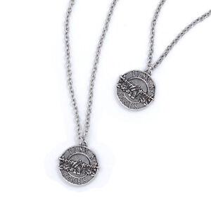 Guns N' Roses Disc Logo Necklace & Bracelet Set