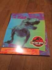 1996 1997 The Lost World Jurassic Park School Book Cover T Rex Green Nice!