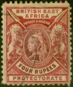 B.E.A. KUT 1896 4R Carmine-Lake SG78 Fine Used Stamp
