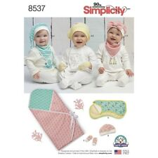 SEWING PATTERN! MAKE BABY ACCESSORIES! WRAP BLANKET~KNIT HAT~MITTS~BURP CLOTH!