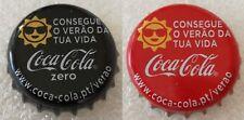 Portugal Used Bottle Caps Coca-Cola Zero + Classic Soft Drink Promo 2018 Verão