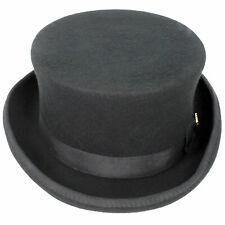Mens Gents Unisex Top Hat Indestructible Men/'s Velour Topper Black Gentleman