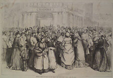 WAITING TO BUY MEAT PARIS BUTCHERS SHOP FRANCO-PRUSSIAN WAR HARPER'S WEEKLY 1870