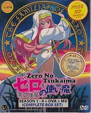 ZERO NO TSUKAIMA ゼロの使い魔 SEASON 1-4 + OVA + MV JAPANESE ANIME DVD + FREE SHIPPING