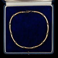Antique Vintage Deco Mid Century Sterling Silver Byzantine Bali Collar Necklace