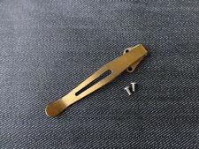 Custom Titanium Deep Carry Pocket Clip Made for Kershaw Leek