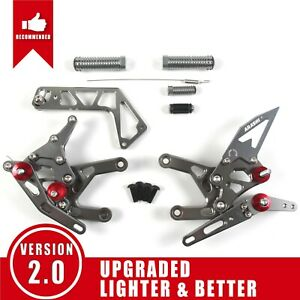 Fits Yamaha YZF R1 R1M 2015 - 2019 Adjustable Footrest Rearsets Foot Pegs YZF-R1