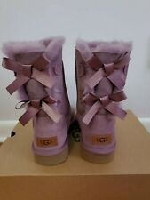 Ugg Women's Bailey bow Size 8 Color (ELD) Purple
