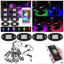 8 Pcs RGB LED Car SUV Chassis Decoration Lights Rock Lamps Bluetooth APP Control
