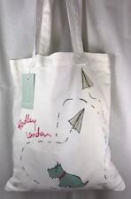 Radley Paper Trail Canvas Tote Bag ..New with Tags Cello Sealed (AL)