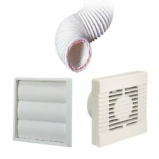 Manrose Extractor Fan White Gravity Vent Ducting Kit for Kitchens & Bathrooms