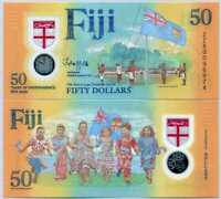 Fiji 50 Dollars ND 2020 Independence 50th P new ZZA Replacement Polymer UNC