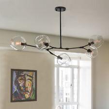 Large Chandelier Lighting Bar Black Lamp Glass Pendant Light Home Ceiling Lights